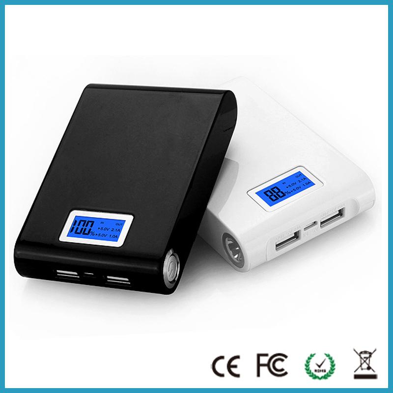 Dual usb LCD power bank 12000mah portable backup battery charger powerbank carregador de bateria portatil bateria externa(China (Mainland))