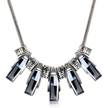 New Arrival Aliexpress Vintage Jewelry Colar Crystal Pendant Statement Necklace Fashion Necklaces For Women 2014 Free
