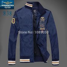 Brand aeronautica militare men jacket  2014 jaquetas militares Jackets Men's Sport Trench Outerwear Coat Air Force polo Jackets(China (Mainland))