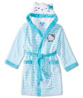 Free Shipping -high quality fleece kids/children/girls/junior's stereo hello kitty robe, sleepwear pajamas, bathrobe(MOQ: 1pc)