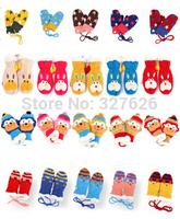 Winter Design 1pair KIDS Gloves,Baby/boy/Girl Winter Gloves+SIZE 14*8cm,cartoon soft warm thermal mitten