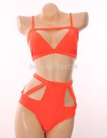 new 2014 Hot sale women Swimwears Sexy Bikini Swimwear Brand Swimsuit High Waist Women Summer bikinis