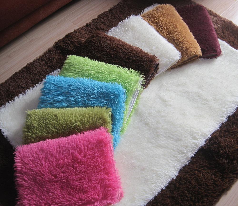 S & V moda venda quente Super macio e confortável de seda chão lã espessamento antiderrapante mats porta porta de entrada tapete de área branco porta tapetes(China (Mainland))