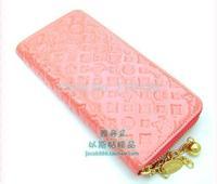 Chain hoist beads single women's long design wallet card holder clutch bag wallet clutch 6 colors
