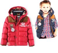 Winter children clothing boy down&parkas red outerwear brand coat kids boy