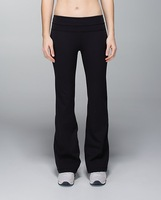 Cheap Women Solid  Yoga  Flare Pants, make of 87% nylon and 13% spandex, a hidden pocket in the waistband yoga flare pants