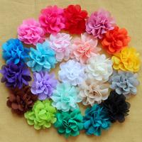"150pcs/lot, 2"" solid chiffon flower,handmade flowers for DIY headwear,Free shipping,BF044"