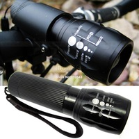 New Arrival 240 Lumen Zoomable Focus Flashlight Torch Q5 Cycling Bike Head Light Bicycle LED Front Head Light #2 SV005021