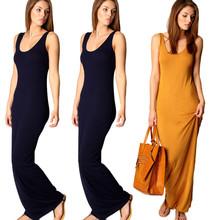 Women Summer Dress 2014 Tank Top Ankle Length Long Maxi Dress Ladies Celebrity Party Casual Dress Vestidos