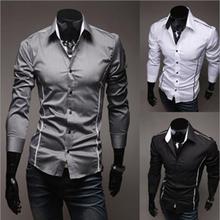 Camisa Social Masculina Slim Fit Premium