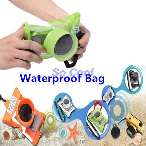 Waterproof Bag Retractable Camera Lens Case Micro Digital Camera Box Waterproof Camera Case For Nikon Canon Sony(China (Mainland))