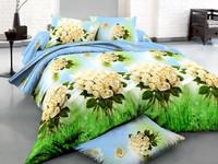 Home textil/3d oil print/mint green bedding/ocean blue bedding/bed set blue color