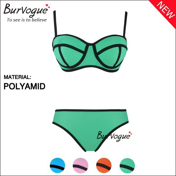 2014 hot sexy costume da bagno brasiliano triangolo milly costumi da bagno in neoprene push up bikini set per le donne costume da bagno