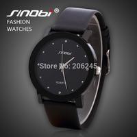 Sinobi Brand Unisex Watches Casual Men Leather Strap Wristwatch with Rhinestone Women Men Quartz Sports Watches MN4976