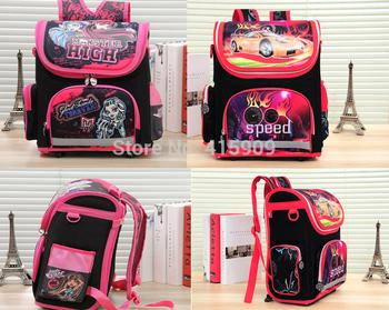 Kids Backpack MONSTER HIGH speed car WINX EVA FOLDED Schoolbag Детский School Bags ...