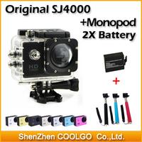 Original SJ4000 Action Camera Diving 30M Waterproof 1080P Full HD Helmet Camera Underwater Sport Cameras DV + Gopro Monopod