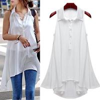 Shirt Woman's Tops 2014 Summer Cool and Refreshing Sleeveless Lace Casual Blouses Roupas Femininas 8111