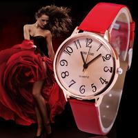 New 2014 Casual Watches Women Dress Watch with Vintage Leather Strap Bracelet Clock Women's Fashion Watch relogio feminino
