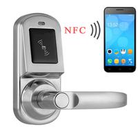 Free Software United Arab Emirates Hot sale Security Door Lock Access Control System High Tech NFC Door Lock (HF-LM9)