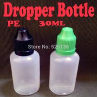 500pcs/lot PE 30ml Plastic Dropper Bottle 1 Oz Bottles With Childproof Cap Bottles For Electronic Cigarette eGo Empty Bottle