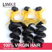 Unprocessed 6A Malaysian Virgin Hair Loose Wave 3pcs Lot Cheap Human Hair Extension Bundles Natural Black Hair Weaves Wavy Sale