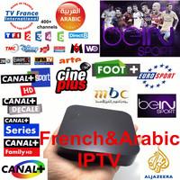 Quad Core S805 Android Arabic IPTV Box 300 Live TV channels HD set top box Bein Sports ART LBC MBC MTV Canal+ French IPTV XBMC