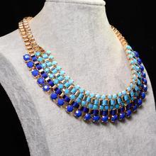 ACEMIR JEWELRY New Gold Layered Bohemian Tassels Drop Choker Chain Pendants Statement Jewelry For Women Choker