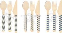 20 Assorted Designs of Wooden Spoon in OPP Packaging (100 packs/1000 pcs)