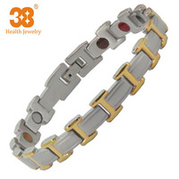 Men's Chain Stainless Steel Blood Pressure Magnetic Health Bracelet