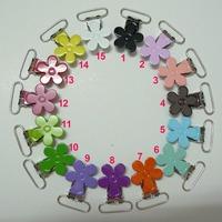 150pcs 15 Color Mix Flower Suspender Clips