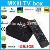 1pc Original MXIII Amlogic S802 Quad Core TV Box XBMC Gotham 13 Android 4.4 Kitkat Wifi 1G/8G 4K2K Ultra HD Rooted Jailbreak
