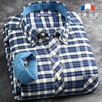 2014 hot sale men casual  long sleeve shirt plaid flannel shirt sanded pure cotton spring autumn male shirts XXXL size