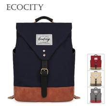 EcoCity Women And Men's Canvas Backpack Student School Bags For Teenagers Girls Mochilas Back To School Herschel Rucksack BP0090(China (Mainland))