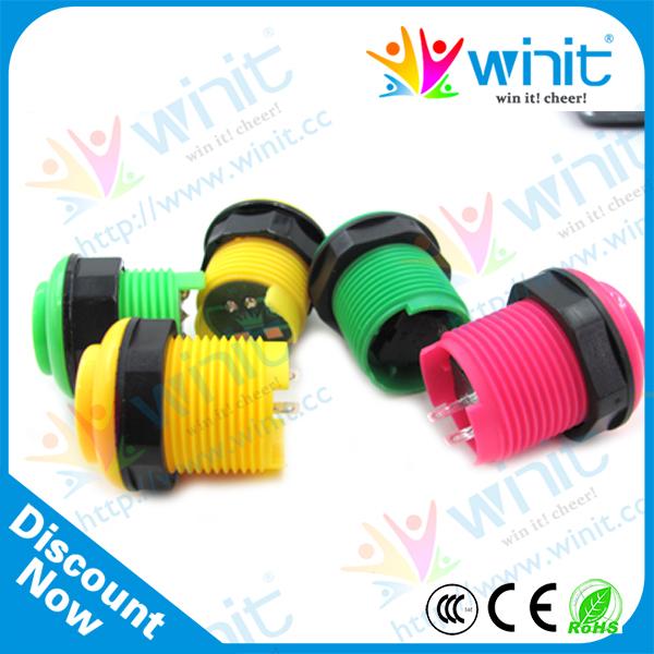 24mm arcade game crane machine weatherproof colorful miniature electronic round micro momentary push button switch control(China (Mainland))