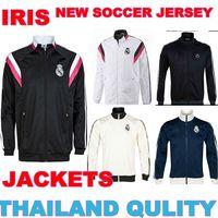 2015  Real madrid Jacket sweater Jersey  14 15  real madrid  Jacket coat black blue white real madrid champions league jacketS