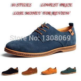 Новой англии кроссовки мужской обуви весна / осень прилив бренд мужской свободного покроя туфли мужская замши заводские магазины из натуральной кожи