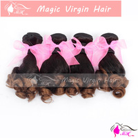 Ombre Two Tone #1b/30 Brazilian Virgin Human Hair Cuticle Weaving Egg Curly Nigeria Aunty Funmi Hair No Tangling No Shedding