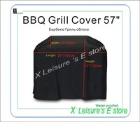 "Free shipping patio Water proofed BBQ grill cover 57""/145cm with ribbons,BBQ cover,BBQ grill protective cover,Superior Quality"