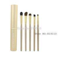 Hotsale Luxury gold wood hand Professional Make up brush set Eye pony hair Brand Makeup Brushes kit Travel Case Tube