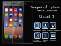 """1 pieces 2.5d 0.3mm Tempered glass screen protector for XIAOMI 3 phone M3 MI3 M 3 LCD 5.0"""" HD clear film ultra thin"""