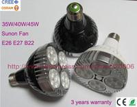 20pcs/lot Osram 30000-3200lm 40W 45W PAR30 led lamp, Osram led track spot light bulb, Black or white shell color E26 E27