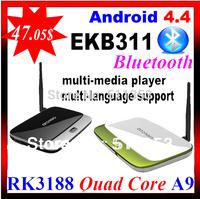 MK888B Bluetooth, 1GB Ram 8GB Rom Quad Core RK3188 Cortex A9 Full HD Multi Media Player Android TV Box MK888 K-R42 CS918 EKB311A