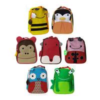 PROMATION! lowest price! Hot children zoo cute kids cartoon animal  bag kindergarten satchels mochila Lunch bag