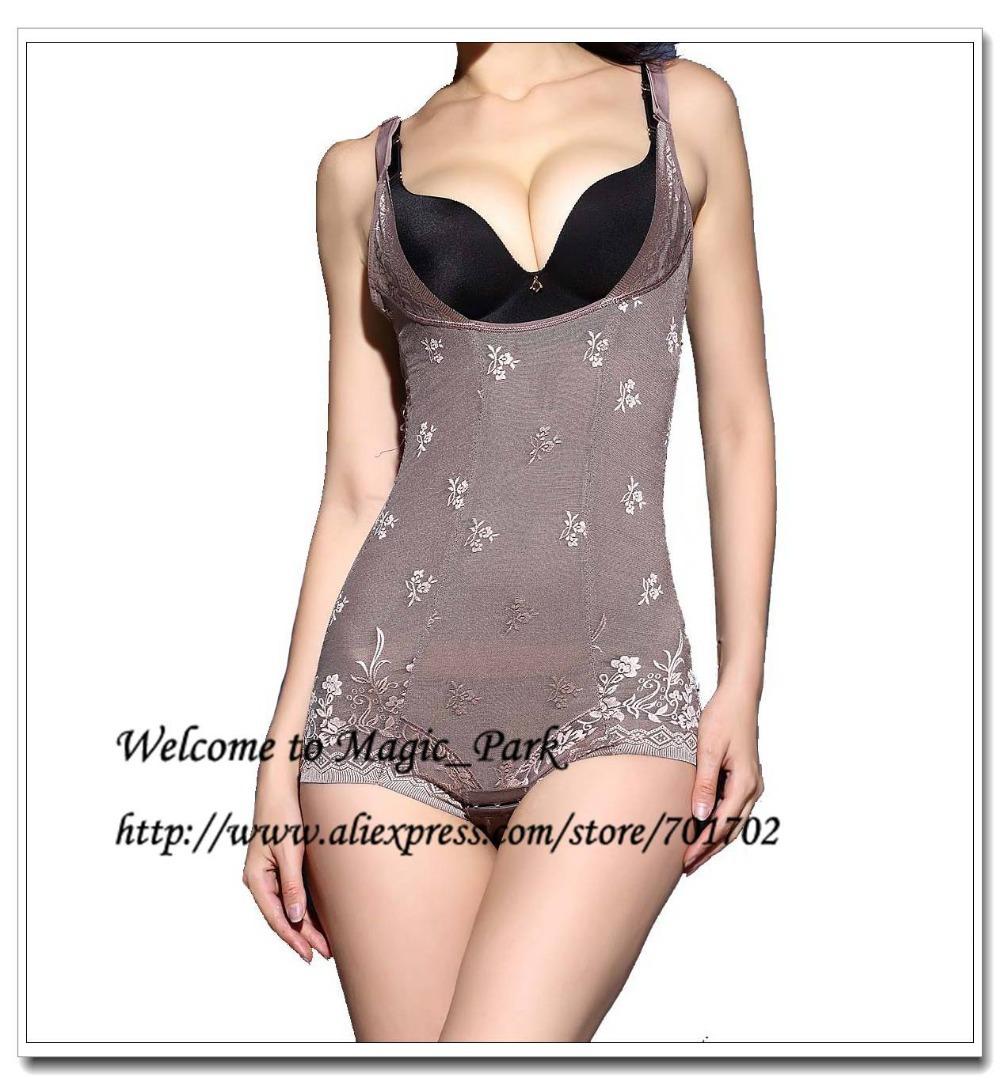 Hot Shapers Magic Full Body Shaper for Women Waist Shaper Lace Bodysuit Women Sexy Plus size Shapewear Butt Lift Body Shapers(China (Mainland))