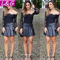 New 2014 Fashion Women Blouses Hot Selling Lace Chiffon Blouse Ladies Body Blusas Femininas Casual Women Shirt Tops Sale 40119