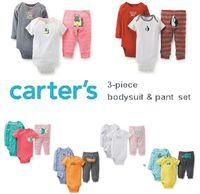 2014 Original carters clothing sets baby clothing set ,roupas de bebe  conjuntos 3piece of 1 set