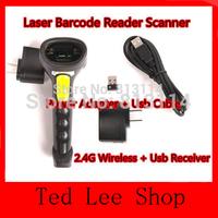 Free Shipping!ALANDA Quality 2.4G 10m Wireless Laser Barcode Reader Scanner Stroage Wireless/Wired