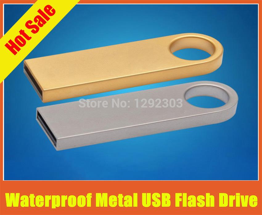 waterproof metal usb flash drive pen drives 64gb 32gb 16gb 8gb usb 2.0 usb flash pendrive memory stick usb flash free shipping(China (Mainland))