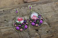 Fashion statement pearl Long earrings multi-colored earrings for women wholesale  Free shipping