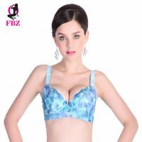 Colorful deep V gather adjustable super push up bra intimate wireless underwear women lingerie bra embroidery